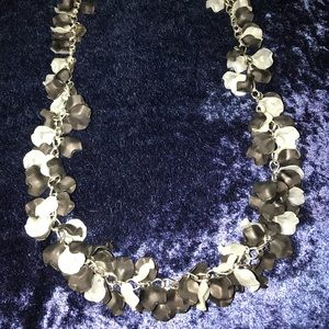Jewelry - Black and White Flutter Necklace